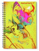 Happy Anniversary Abstract  Spiral Notebook
