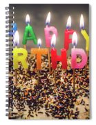 Happy Birthday Candles Spiral Notebook