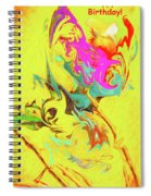 Happy Birthday Lilac Breasted Roller Abstract Spiral Notebook
