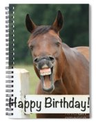 Happy Birthday Smiling Horse Spiral Notebook