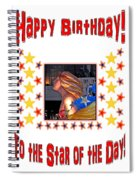 Happy Birthday To The Star Of The Day Spiral Notebook