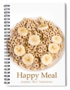 Happy Breakfast Fine Art Poster Spiral Notebook