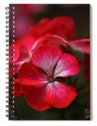 Happy Bright Geranium And Design Spiral Notebook