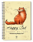 Happy Cat Poster No. 001 - Introducing Happy Cat Spiral Notebook