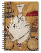 Happy Chef On The Bike Spiral Notebook