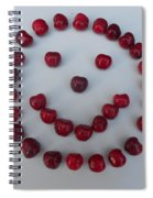 Happy Cherry Face Spiral Notebook