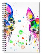 Happy Chihuahuas Spiral Notebook