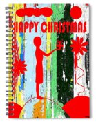 Happy Christmas 14 Spiral Notebook