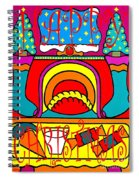 Happy Christmas 16 Spiral Notebook