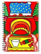 Happy Christmas 17 Spiral Notebook