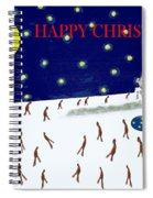 Happy Christmas 27 Spiral Notebook