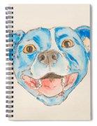 Happy Dog Blue Spiral Notebook