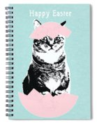 Happy Easter Cat- Art By Linda Woods Spiral Notebook