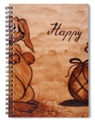 Happy Easter Coffee Painting Spiral Notebook