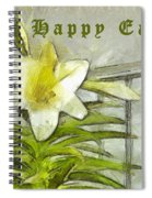 Happy Easter Lily Spiral Notebook