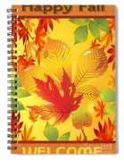 Happy Fall-jp2760 Spiral Notebook
