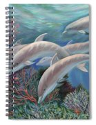 Happy Family - Dolphins Are Awesome Spiral Notebook