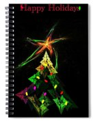 Happy Fractal Holidays Spiral Notebook