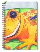 Happy Frog Spiral Notebook