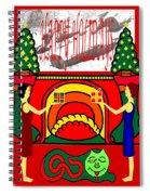 Happy Holidays 17 Spiral Notebook