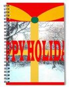Happy Holidays 21 Spiral Notebook