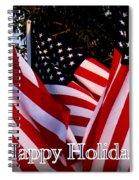 Happy Holidays Flag 1 Spiral Notebook