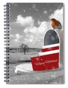 Happy Holidays Mail Spiral Notebook