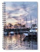 Happy Hour Sunset At Bluewater Bay Marina, Florida Spiral Notebook
