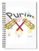 Happy Joyous Purim  Spiral Notebook