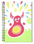 Happy Jumping Creature Spiral Notebook