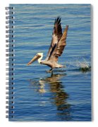 Happy Landing Pelican Spiral Notebook