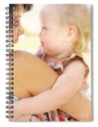 Happy Mother Holding Baby With Look Of Surprise Spiral Notebook