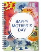 Happy Mothers Day Watercolor Garden- Art By Linda Woods Spiral Notebook
