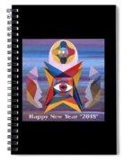 Happy New Year 2018 Spiral Notebook