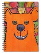 Happy Orange Doggy Dog Spiral Notebook