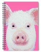 Happy Pig Portrait Spiral Notebook
