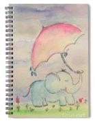 Happy Rain  Spiral Notebook