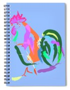 Happy Rooster Spiral Notebook