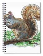 Happy Squirrel  Spiral Notebook