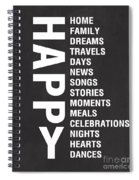 Happy Things Spiral Notebook