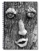 Happy Tree In Black And White Spiral Notebook