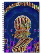 Happy Under The Rainbow Vintage Spiral Notebook