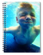 Happy Under Water Pool Boy Vertical Spiral Notebook