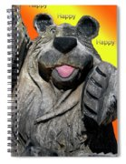 Happy Wooden Bear Craving Spiral Notebook