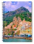 Harbor At Amalfi Spiral Notebook