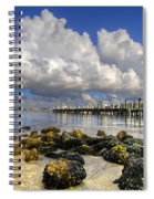 Harbor Clouds At Boynton Beach Inlet Spiral Notebook