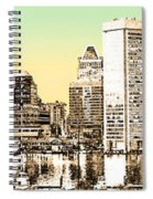Harbor Lights From Federal Hill - Drawing Fx Spiral Notebook