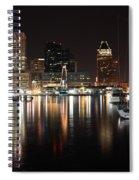 Harbor Nights - Baltimore Skyline Spiral Notebook