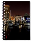 Harbor Nights - Trade Center In Focus Spiral Notebook