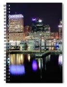 Harbor Nights In Baltimore Spiral Notebook